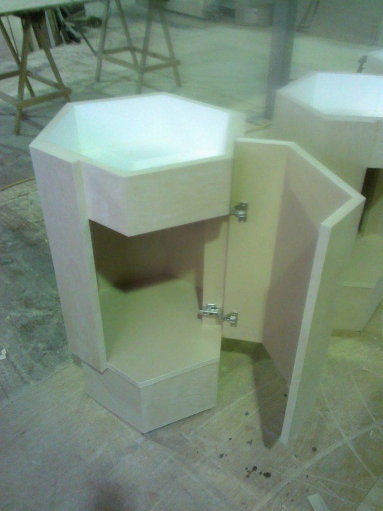 六角形の中置き台
